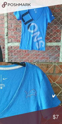 Ladies Nike Detroit Lion size medium top Ladies NFL team apparel Nike size medium Detroit Lions short sleeve shirt NFL  Tops Tees - Short Sleeve