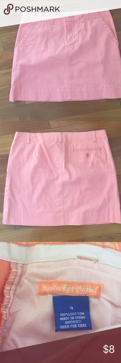 Nantucket Brand chino skirt never worn, it's a coral-cream-orange color and it's brighter than shown in the picture, 100% cotton Nantucket Brand Skirts Mini