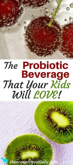 Do your kids hate the taste of Milk Kefir? Water Kefir is a probiotic beverage that they will love! Kombucha, Best Probiotics For Kids, Live Probiotics, Kefir Probiotic, Kefir Recipes, Drink Recipes, Fermentation Recipes, Water Kefir, Candida Diet
