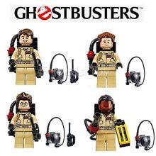 4 pcs/ensemble Ghostbusters Figurines Figures Building Blocks Briques Jouets Éducatifs Compatible Avec Lego Film(China (Mainland))