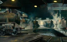 Willesden Shed (British Railways poster artwork) by David Shepherd Date painted: 1955 Oil on canvas, x cm Collection: National Railway Museum Industrial Artwork, National Railway Museum, Diesel, Steam Railway, Train Art, Railway Posters, Found Art, Painting Gallery, Art Uk