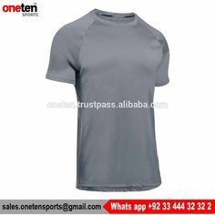 Grey Short Sleeve Run T Shirt Mens - Running Wear