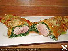 Blätterteigrolle mit Schweinefilet und Spinat (Rezept mit Bild)   Chefkoch.de