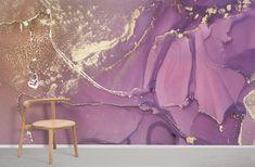 Purple & Gold Marble - Medium