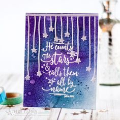 Count the Stars Card by Betsy Veldman for Papertrey Ink (December 2017)