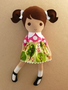 Reserved for Zainab Fabric Doll Rag Doll Brown by rovingovine