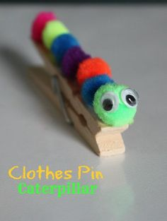 Picture of Kids Caterpillar Clothes Pin Craft