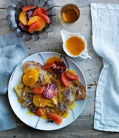- Crêpes Suzette - with a citrus feast of grapefruit, oranges and blood oranges