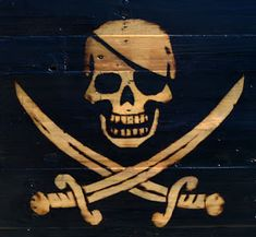Wood Pallets, Pallet Wood, Pallet Flag, Diy Pallet, Wood Wood, Painted Wood, Diy Wood, Wood Art, Pirate Skull Tattoos