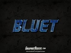 GraphicRiders | Sci-fi style – Bluet (free photoshop layer style, text effect) #graphicriders