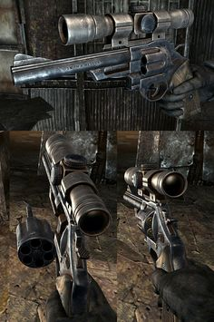 Fallout4 mod- m29 revolver from fallout 3 retextured by ben bolton