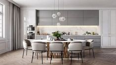 50 Affordable Kitchen Dining Room Design Ideas For Eating With Family - With space crunch becoming a common issue faced by people in setting up their houses, buying home furnishing products has become more challenging than. Home Kitchens, Dining Room Design, Kitchen Room Design, Kitchen Interior, Interior Design Kitchen, Dinner Room, Home Decor, House Interior, Modern Kitchen Design