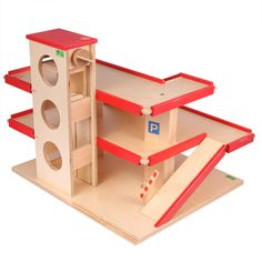 Parkhaus mit Aufzug - Holzspielzeug Beck