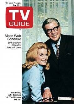 """TV Guide: November 15, 1969 - Dan Dailey and Julie Sommars of """"The Governor and J.J."""""""