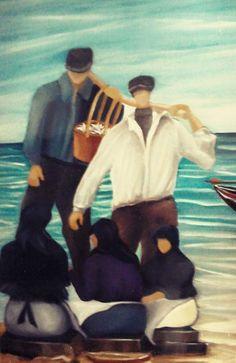 Nelson Canastra, óleo sobre tela Matosinhos, Pescadores