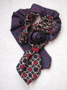 Classic attribute of the male wardrobe - the tie - can take its rightful place in the womens ... jewelry box. Original accessory for any occasion.  Each piece of neckties - I has its own character and personality, Id be happy if my work will help you emphasize your own.  This item ships from Ukraine using within 1-5 days after payment is received. Shipment to USA or Europe (except Italy) usually takes 15-21 business days.