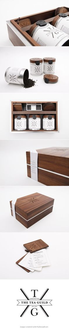 The Tea Guild by Christian Andree, via Behance lovely identity, packaging, branding PD