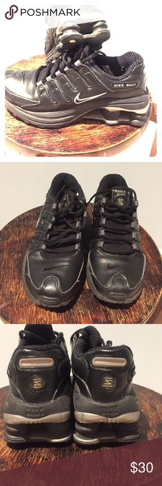 Nike Shox sneakers boys Black all leather Nike Shox has somewhere but still very comfortable Nike Shoes Sneakers