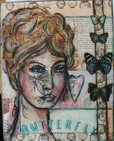 Again, I am not much for faces in my Art Journal but this one really caught my eye...very beautiful.    My Art Journal: 29 Faces Day 9