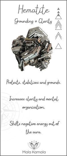 What is the meaning and crystal and chakra healing properties of hematite? A stone for grounding and clarity.