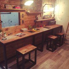 テーブル DIY/ワイヤークラフト/ディアウォール/溝切り加工/トグルスイッチ…などのインテリア実例 - 2016-09-01 19:02:11 | RoomClip(ルームクリップ)