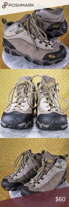 Oboz Womens Yellowstone II Waterproof Hiking Shoes These are in great pre-owned condition! We cleaned these up a bit, got a lot of the dust and dirt off. They look & feel great! There is some imperfections and signs of normal wear. Better shape than a lot of the other used ones I've been seeing online 😉 Women's size 9!  🌟🌟 If you appreciate old school quality - you're in the right place. We don't just sell items, we put time & work into them. We also ship FAST, within same or 1 business…