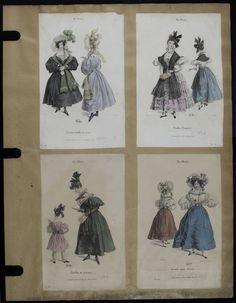 Mode. [XIXe siècle]. 1830 Robe, manche gigot, fichu