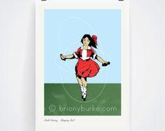 Little Audrey - Skipping Girl Vinegar Neon Vintage Sign - Victoria Street Abbotsford Richmond Melbourne Australia Print Wall Art