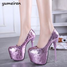 Womens Butterfly Super High Platform Stilettos Dresser Nightclub Chic Shoes New High Heel Pumps, Platform Stilettos, Sexy High Heels, Women's Pumps, Platform Shoes, Sparkly Heels, Prom Heels, Glitter Shoes, Purple Glitter