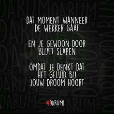 #door slapen