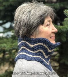 ANGEL PRINT MOHAIR ALL RIB BUTTON COWL KNITTING PATTERN PRINTED INSTRUCTIONS
