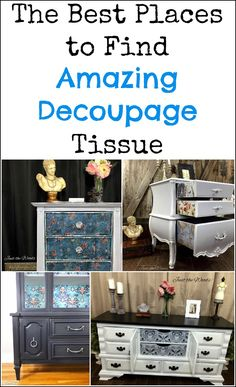 Decoupage tissue and