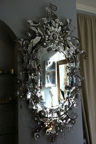 ornate, jewel like mirror