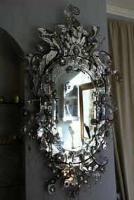 ornate, jewel like mirror
