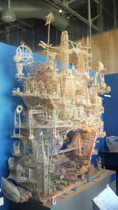 40 year old project made of toothpicks on display
