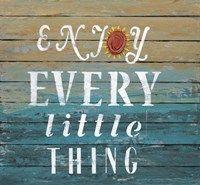 Framed Enjoy Every Little Thing