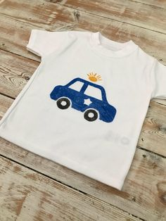 Police Car Organic Cotton Kids T Shirt Keepsake Quilting, Police Cars, Organic Baby, Uk Shop, Graphic Sweatshirt, T Shirt, Baby Bodysuit, My Etsy Shop, Trending Outfits