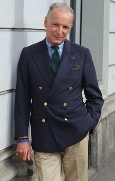 Double-breasted blazer from N.L. Sartoria, Milan.