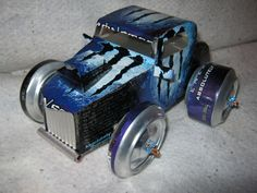 Recycled Handmade MONSTER ENERGY hot rod by CANARTCRAFTS2204, $19.95