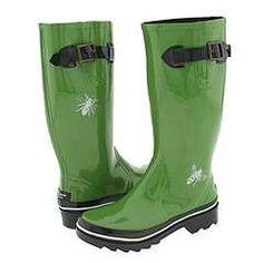 Kate Spade Riley kelly green rainboots