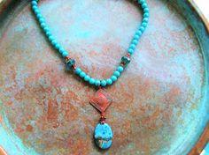 Crazy Lace Agate necklace Picasso necklace boho necklace
