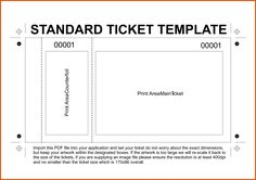 Free Printable Raffle Ticket Templates | Dig pink | Pinterest ...