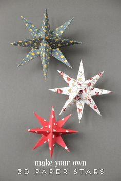 Christmas Paper Crafts ~ 18 Diy Inexpensive And Fun Project Ideas . Christmas Paper Crafts ~ 18 DIY Inexpensive and Fun Project Ideas diy christmas paper crafts - Diy Paper Crafts Diy Christmas Star, Paper Christmas Ornaments, Diy Christmas Decorations Easy, Holiday Crafts, Christmas Holidays, Star Decorations, Vintage Christmas, Spring Crafts, Christmas Vacation