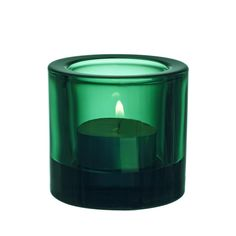 The New Kivi tealight candle holder in gorgeous Emerald Green.Kivi was designed in 1988 by Heikki Orvola for the Finnish design manufacturer Iittala. Design Bestseller, Possible Combinations, Lassi, Oil Lamps, Tea Light Holder, Colored Glass, Scandinavian Design, Slovenia, Tea Lights