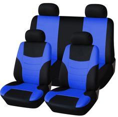 ABN Car Seat Cover 8-piece Set, Universal Fit Flat Cloth, Fits Most Vehicles