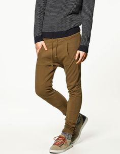 TROUSERS WITH POUCH POCKET - Trousers - Man - ZARA United States