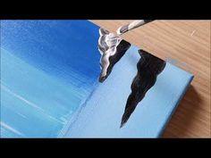 KING ART N 119 LA CASCATA DELLA SERENITA' - YouTube Simple Acrylic Paintings, King Art, Acrylic Canvas, Watercolor Art, Crafting, Draw, Facebook, Youtube, Christmas