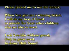 PRAY TO WIN THE LOTTERY - YouTube