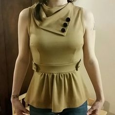 Anthropologie Monteau Los Angeles size s worn once Anthropologie blouse, button accents. worn once Monteau Tops Blouses
