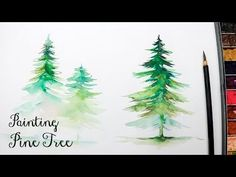 [LVL3] How to Paint a Pine Tree in Watercolor - YouTube